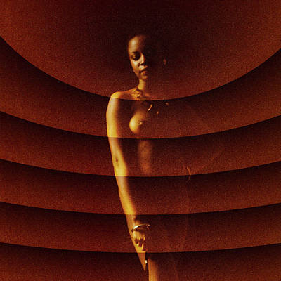 Photograph - Nude With Radial Pattern Overlay B by Stuart Brown