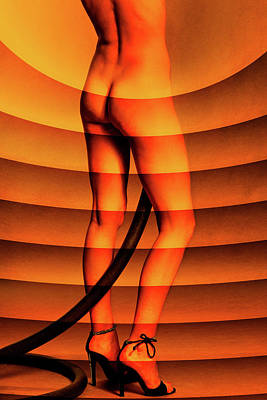 Photograph - Nude With Radial Pattern Overlay by Stuart Brown