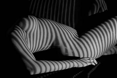 Photograph - Nude With Stripe by Kiran Joshi