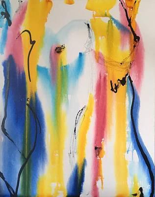 Nude Woman Rainbow Original