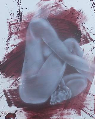 Painting - Nude Woman Sitting by Bas Hollander