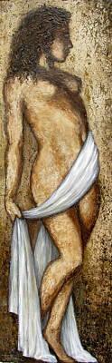 Nude Woman Standing Art Print by Judy Merrell