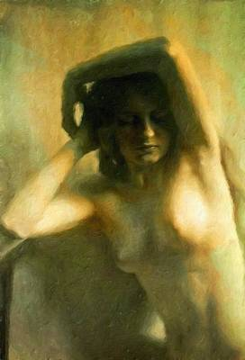 Nude Woman Art Print by Vincent Monozlay