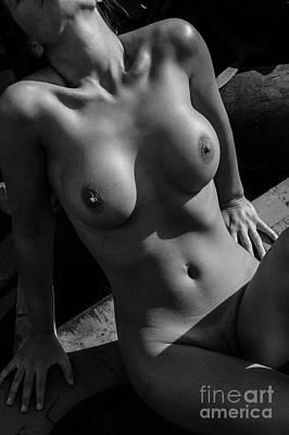 Photograph - Nude Woman'storso by Simon Pocklington