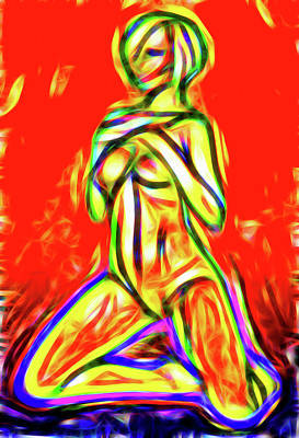 Lucent Dreaming Painting - Nude Xxix by Nick Arte