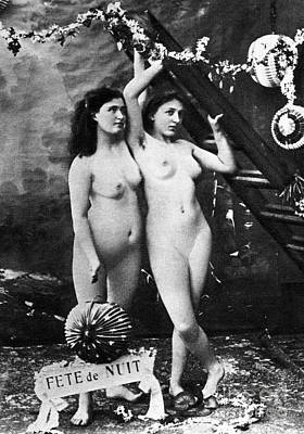Photograph - Nudes At Festival, C1900 by Granger