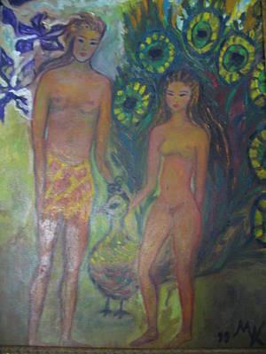 Nudes Elation Art Print by Maria  Kolucheva