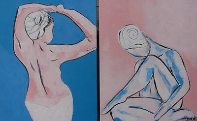 Nudes Art Print by Jennifer Whitworth