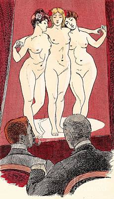 Drawing - Nudes Posing by Martin von Maele