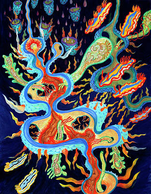 Painting - Nudibranchs On Parade by Shoshanah Dubiner