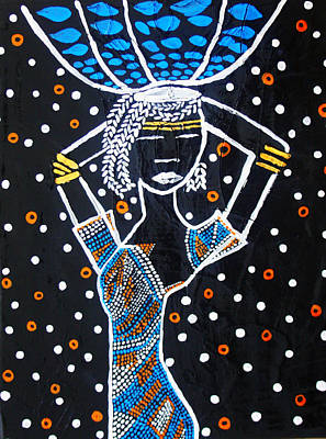Nuptials Painting - Nuer Lady - South Sudan by Gloria Ssali