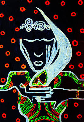 Painting - Nuer  Wise Virgin by Gloria Ssali