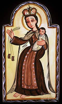 Our Lady Of Mt Carmel Painting - Nuestra Senora De Carmen - Our Lady Of Mt. Carmel - Aonsc by Br Arturo Olivas OFS