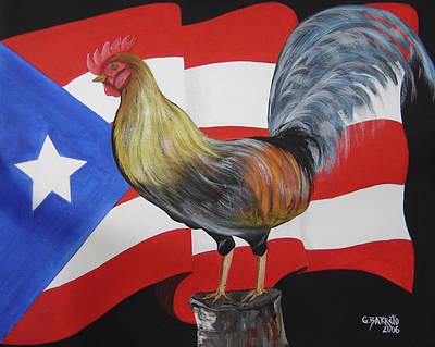 Rican Painting - Nuestro Orgullo  Meaning Our Pride by Gloria E Barreto-Rodriguez