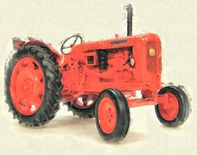 Old Farm Equipment Photograph - Nuffield Tractor by Edward Fielding