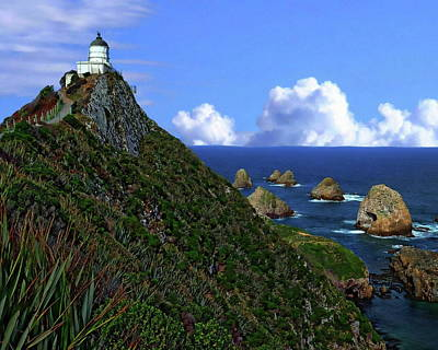 Photograph - Nugget Point Lighthouse by Anthony Dezenzio