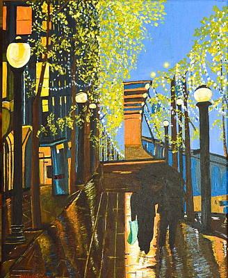 Painting - Nuit De Pluie by Donna Blossom