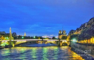 Paris Skyline Royalty-Free and Rights-Managed Images - Nuit Parisienne by Helge