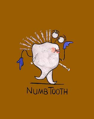 Painting - Numb Tooth T-shirt by Anthony Falbo