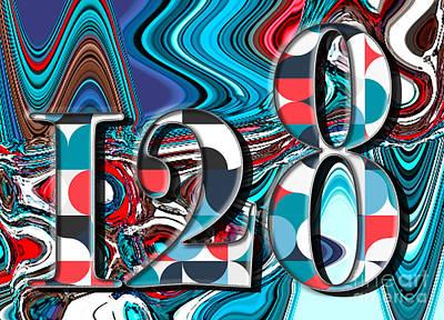 Digital Art - Number 128 by Genevieve Esson