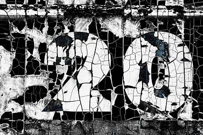 Mixed Media - Number 20 Cracked by Carol Leigh