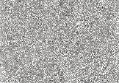 Free Form Drawing - Number 32 - Pre-colorization by Terri Smith