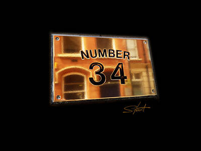 Number 34 Art Print by Charles Stuart