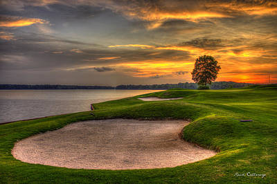 Nicklaus Photograph - Number 4 Sunset Traps Reynolds Plantation by Reid Callaway