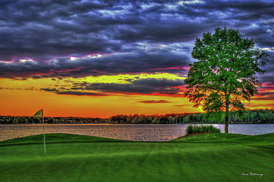 Photograph - Number 4 The Landing Reynolds Plantation Golf Art by Reid Callaway
