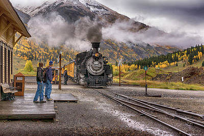 Photograph - Number 482 At Silverton Station Dsc07669 by Greg Kluempers