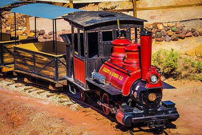 Narrow Gauge Engine Photograph - Number 5 Calico Train by Garry Gay