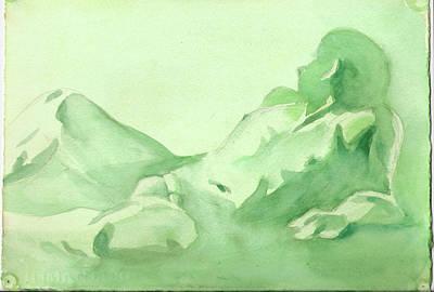 Number 88    Figure Of The Artist Art Print by Ken Daugherty