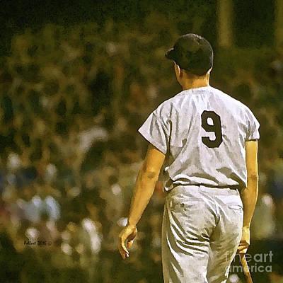 Babe Ruth Mixed Media - Number 9, Roger Maris, 1961, Watercolor, New York Yankees by Thomas Pollart