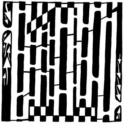 Learn To A Maze Drawing - Number One Maze by Yonatan Frimer Maze Artist