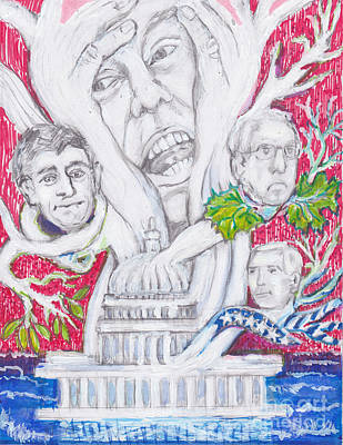 Capitol Building Painting - Number One- Trumps' Tree Of Life In The  Swamp by Susan Brown    Slizys art signature name