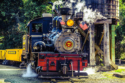 Headlight Photograph - Number Seven Old Train by Garry Gay