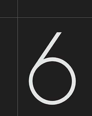 Number Six Minimalist Print Art Print