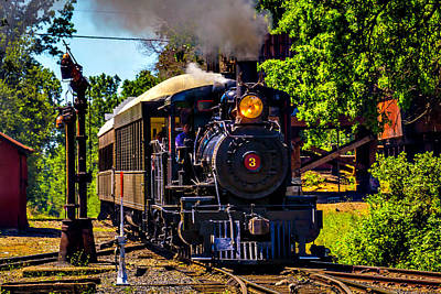 Old West Photograph - Number Three Pulling Passenger Cars by Garry Gay