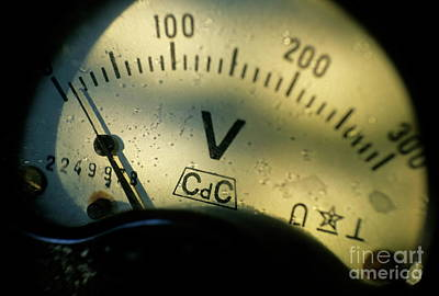Numbers On The Dial Of A Voltmeter Art Print by Sami Sarkis