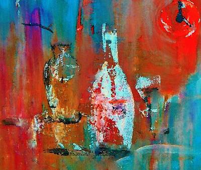 Wine Painting - Numbers One Two Two Zero by Lisa Kaiser