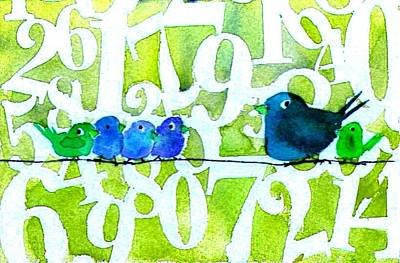 Painting - Numbirds Counting Lesson by Anne Duke