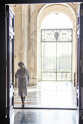Photograph - Nun Leaving The Vatican  by John McGraw