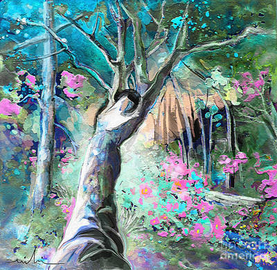 Fantasy Tree Mixed Media - Nun Of The Above by Miki De Goodaboom