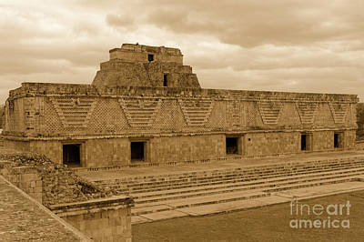 Photograph - Nunnery Quadrangle Uxmal by John  Mitchell