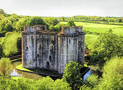 Photograph - Nunney Castle 2 by Ron Harpham