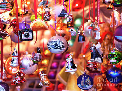 Photograph - Nuremberg Christmas Ornaments by John Rizzuto
