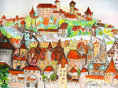 Painting - Nuremberg Germany by Irina Afonskaya