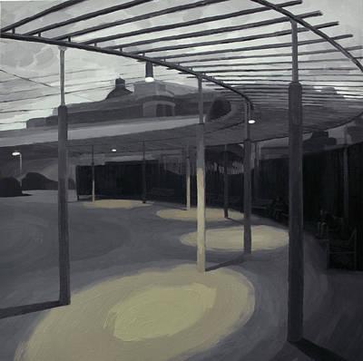 Painting - Karl Broeger Platz With Lanterns  by Lena Krasotina