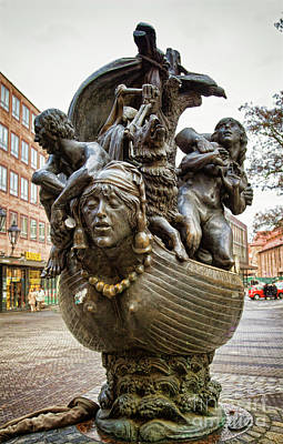 Photograph - Nuremberg Water Fountain by Tatiana Travelways