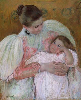 Seat Painting - Nurse And Child by Mary Cassatt